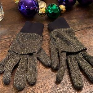 Stylish and warm sparkly gloves!